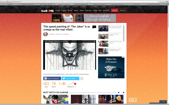 My Joker Speed Painting Goes Viral! Check It Out!!