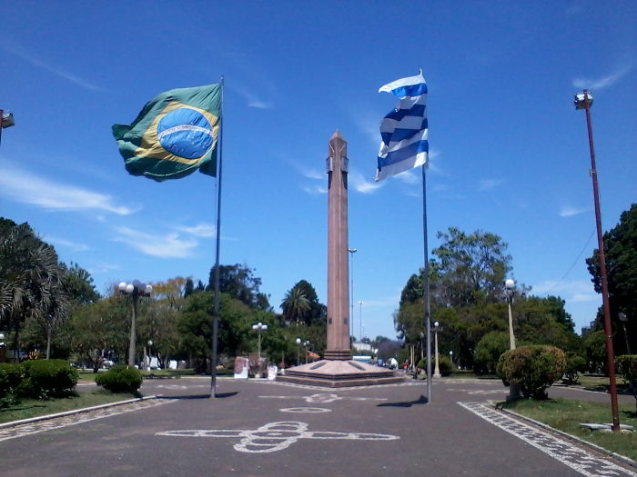 "Brazil – Uruguay Border, Two Sister Cities Known As The ""border Of Piece"" (rivera And Santana)"
