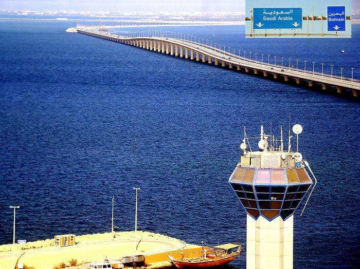 25 Km Bridge Separating Bahrain From Saudi Arabia