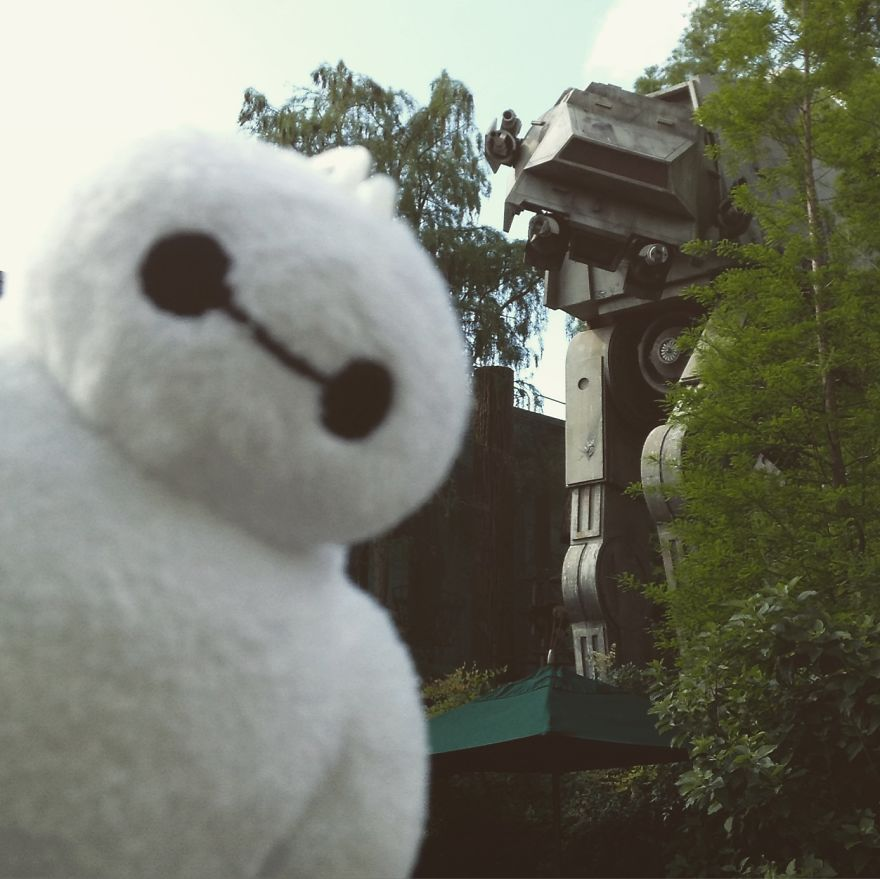 Tiny Baymax Takes Over The World