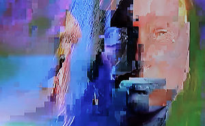 Eerie Photographs Made From Glitched Cable Television Signals