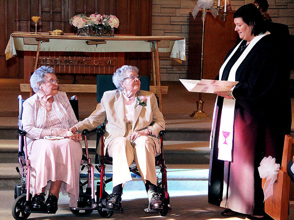Two Women, Vivian, 91, And Alice, 90, Finally Get Married