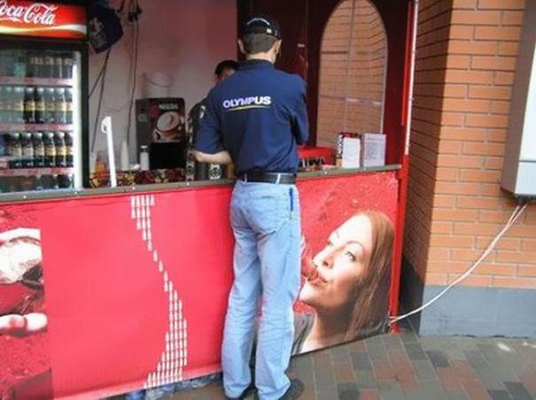 Coca Cola Ad Placement Fail