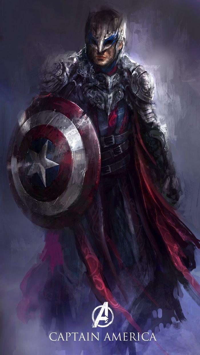 An Alternate Marvel Universe: Avengers Heroes Turn Fantastical