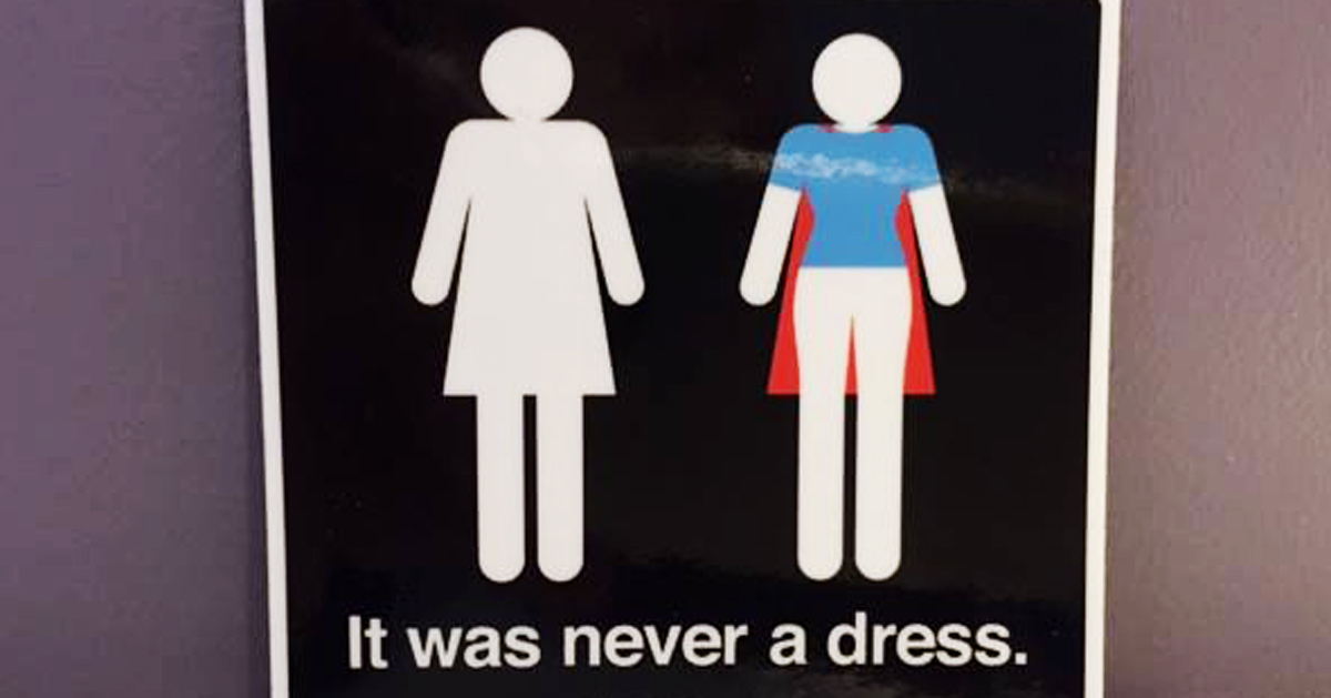 It Was Never A Dress: This Campaign Will Change The Way You See Women's  Bathroom Signs Forever | Bored Panda