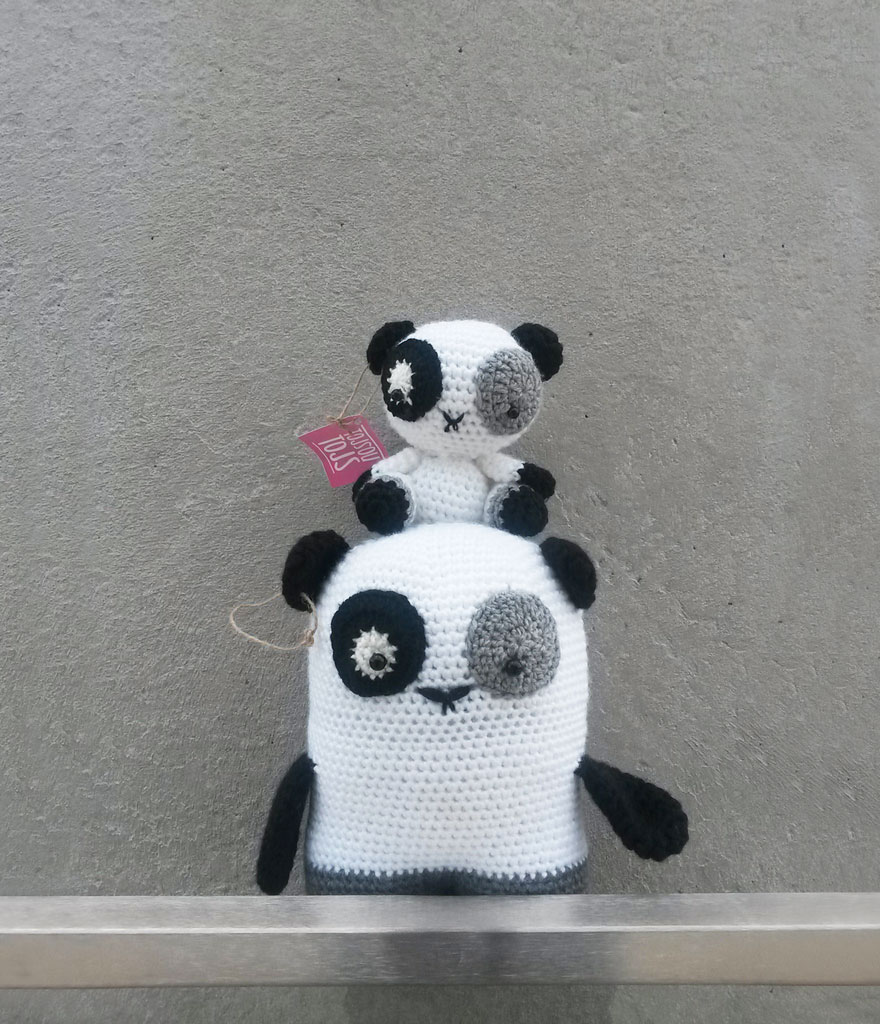 Pandas Making An Eiffel Tower
