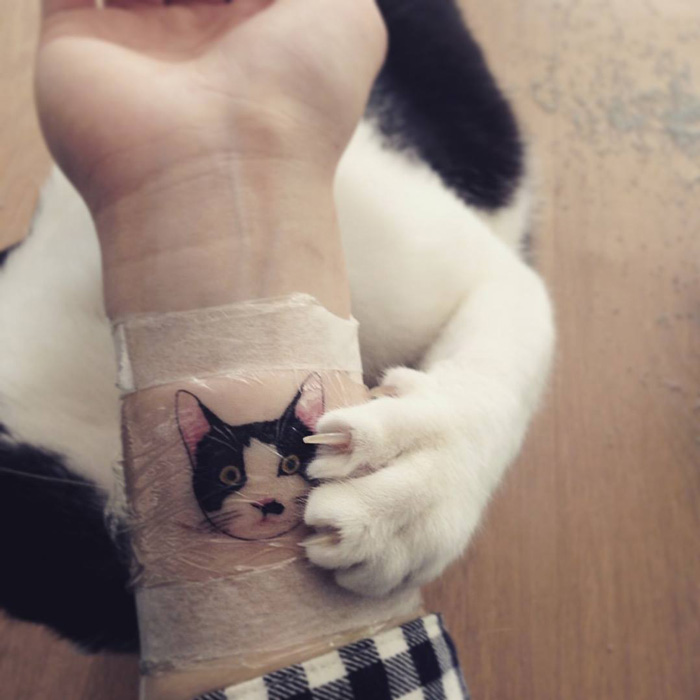 Cat tattoos are probably the cutest way to break the law for Tatoo gatos