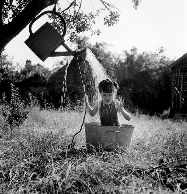 Girl Enjoying Water, 1949