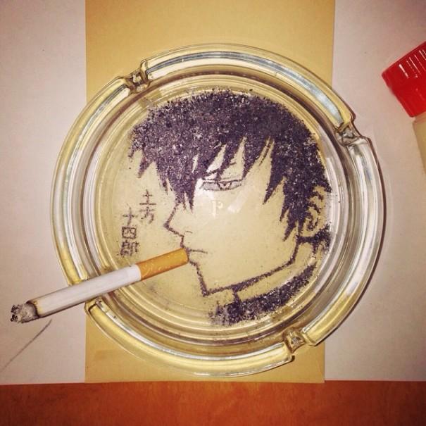 cigarette-ash-art-shinrashinge-japan-1