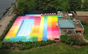 Asylum: I Used 145 Gallons Of Paint To Revive A Forgotten Swimming Pool On Roosevelt Island
