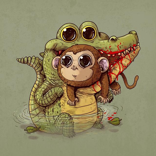 cute-disturbing-animal-cartoons-predators-and-prey-alex-solis-2