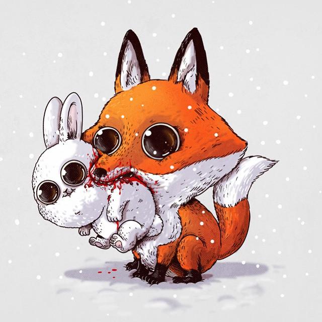 cute-disturbing-animal-cartoons-predators-and-prey-alex-solis-5