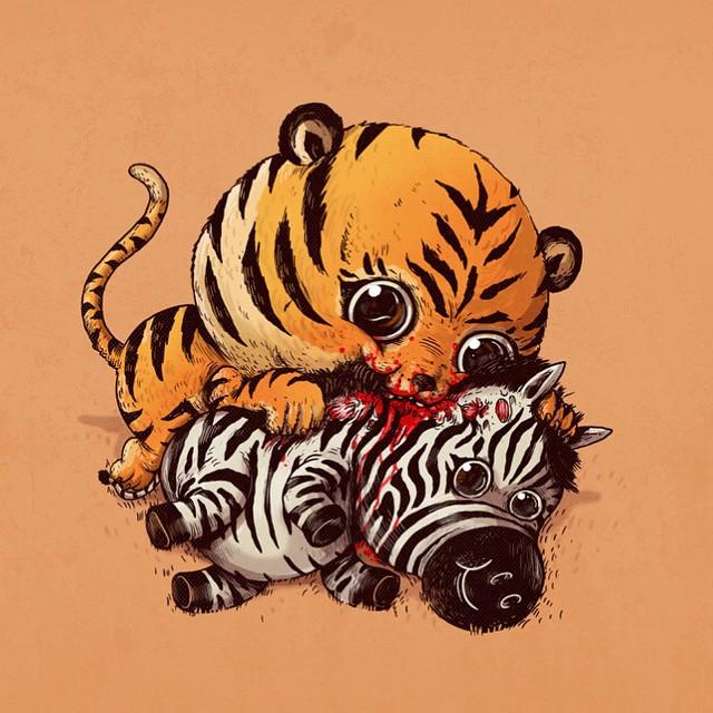 cute-disturbing-animal-cartoons-predators-and-prey-alex-solis-6