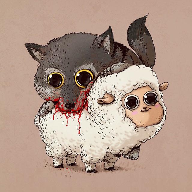 cute-disturbing-animal-cartoons-predators-and-prey-alex-solis-7