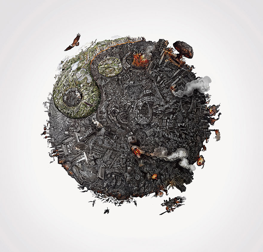 We Created Detailed Drawings To Show The Harm We've Done To Mother Earth