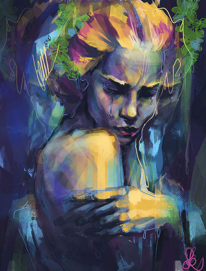 I Express My Feelings Through Figurative Art And Colors