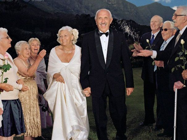 Elderly Couple Getting Married