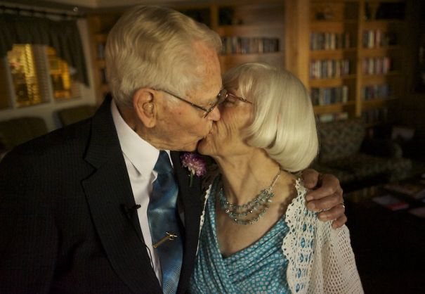 John Deurwaarder, 97, And Alta Lunsford, 78, Both Widowed, Dated For Five Months Before Marriage