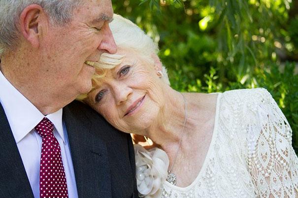 Beautiful Elderly Couple Gets Married