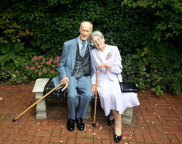 98-Year-Old Ted Finally Marries His Sweetheart Jean