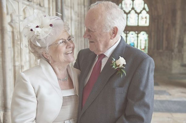 Elderly Couple Getting Married