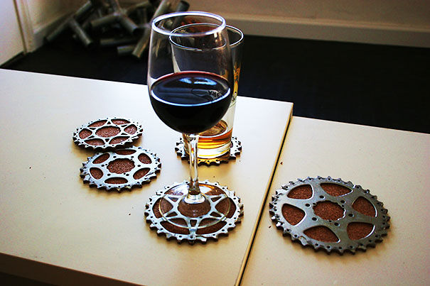 Bicycle Gear Cog Coasters