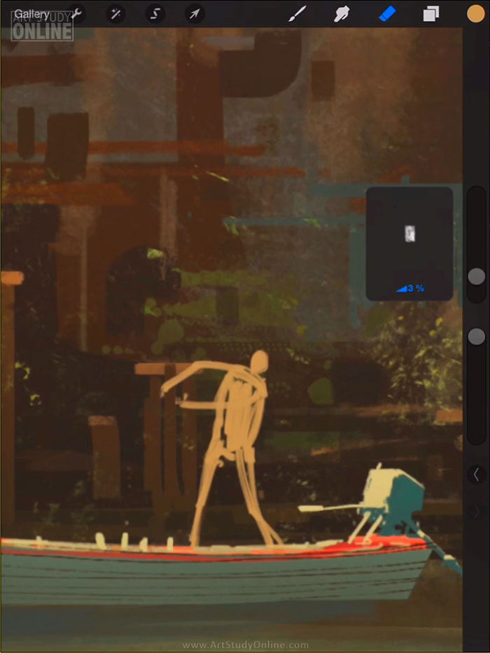 "Ipad Artist Nikko's Latest Incredible Artwork: ""boat Trouble"""
