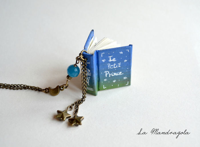 "Our Tiny ""little Prince"" Book Necklace And Stop-motion Video"
