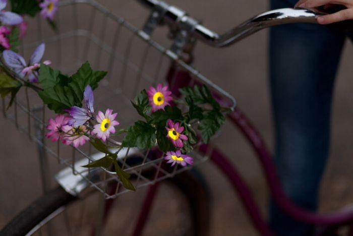 Petal Brite Reflective Bike Basket Garland
