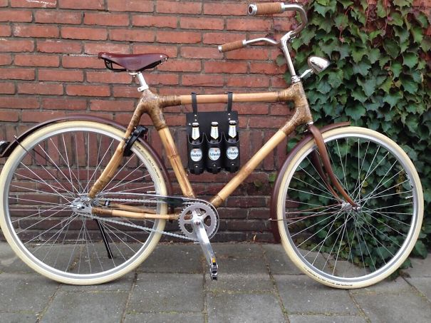 Beer Carrier On Your Bamboo Bike!