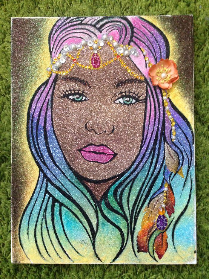 Collaborative Glitter Art - Fotoflares & Malinda Prud'homme