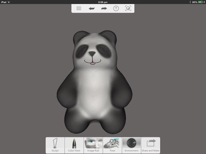 I Made A Panda Sculpture On An Awesome App Called 123d Sculpt+