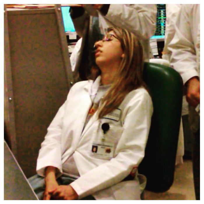 Fell Asleep Smack In The Middle Of Post Call Rounds Circa 2011