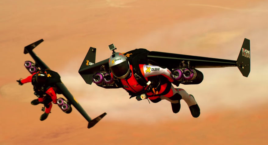 Two Guys With Jetpacks Fly Over Dubai In Epic Video Bored Panda - Crazy video of two guys flying jetpacks over dubai