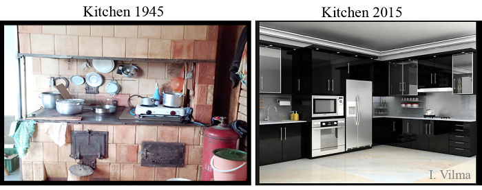 Difference Between Kitchens In 1945 And 2015 Year Bored