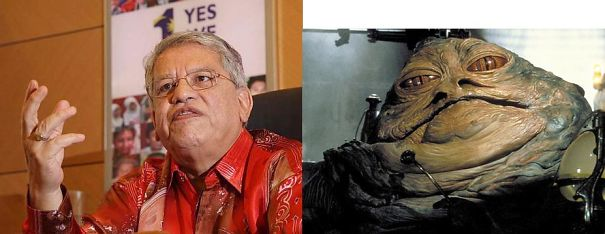Malaysian Politician Tengku Adnan And Jabba The Hutt