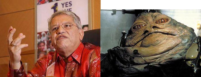 Malaysian Politician Tengku Adnan And Jabba The Hutt