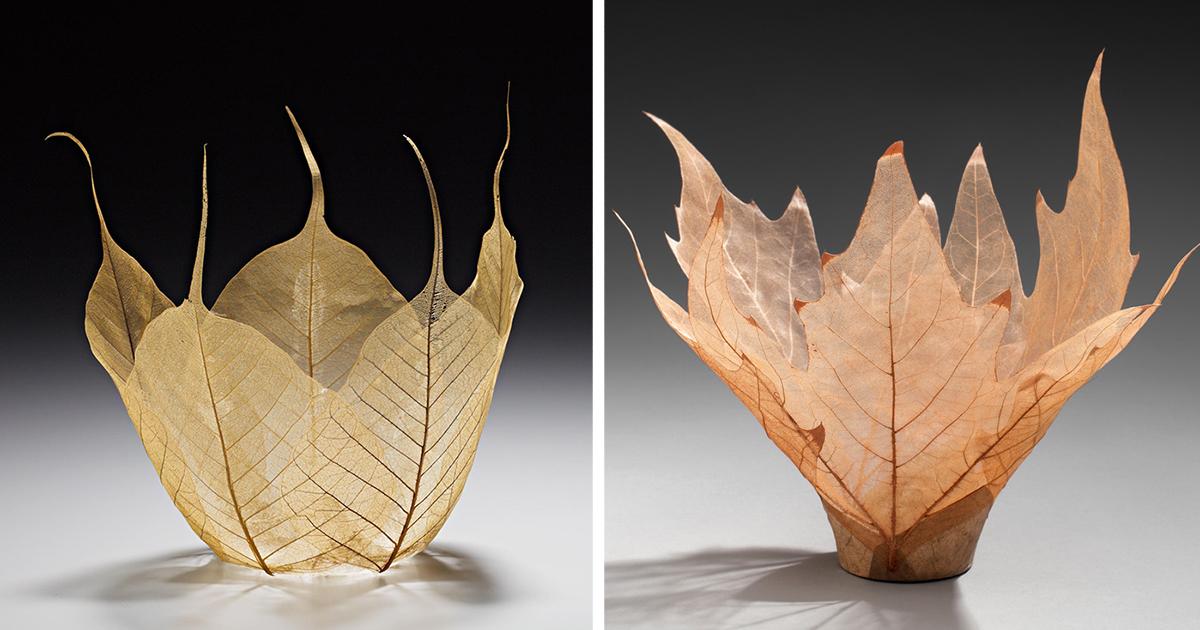 Beautiful Leaf Bowls Made From Real Leaf Skeletons