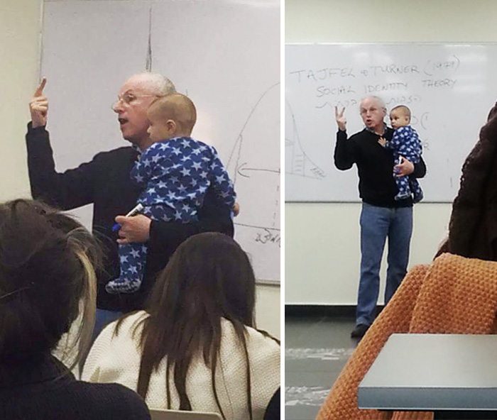 When A Student's Baby Started Crying In Class, This Professor Had The Best Response Ever