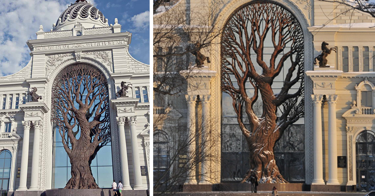 Giant Iron Tree Built In Russia S Ministry Of Agriculture