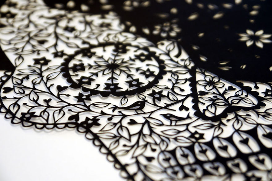 Artist Hand-Cuts Insanely Intricate Paper Art From Single Sheets ...