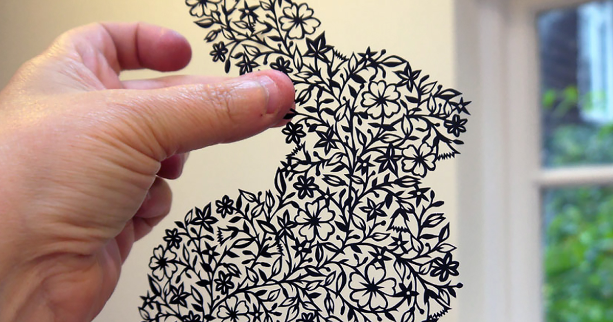 Artist Hand Cuts Insanely Intricate Paper Art From Single Sheets Of