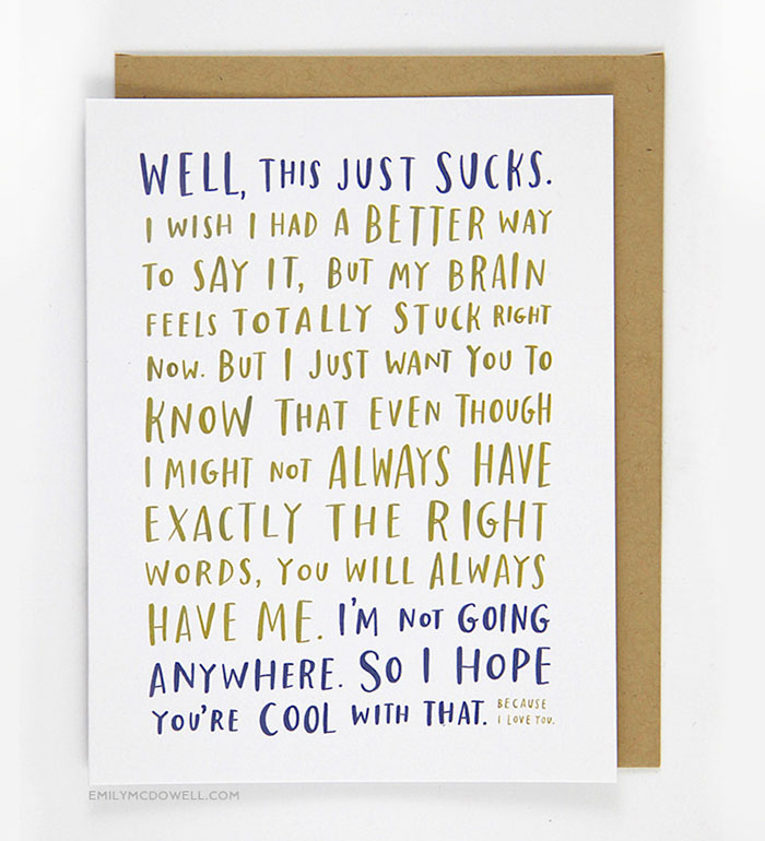 cancer survivor creates empathy cards for people with serious