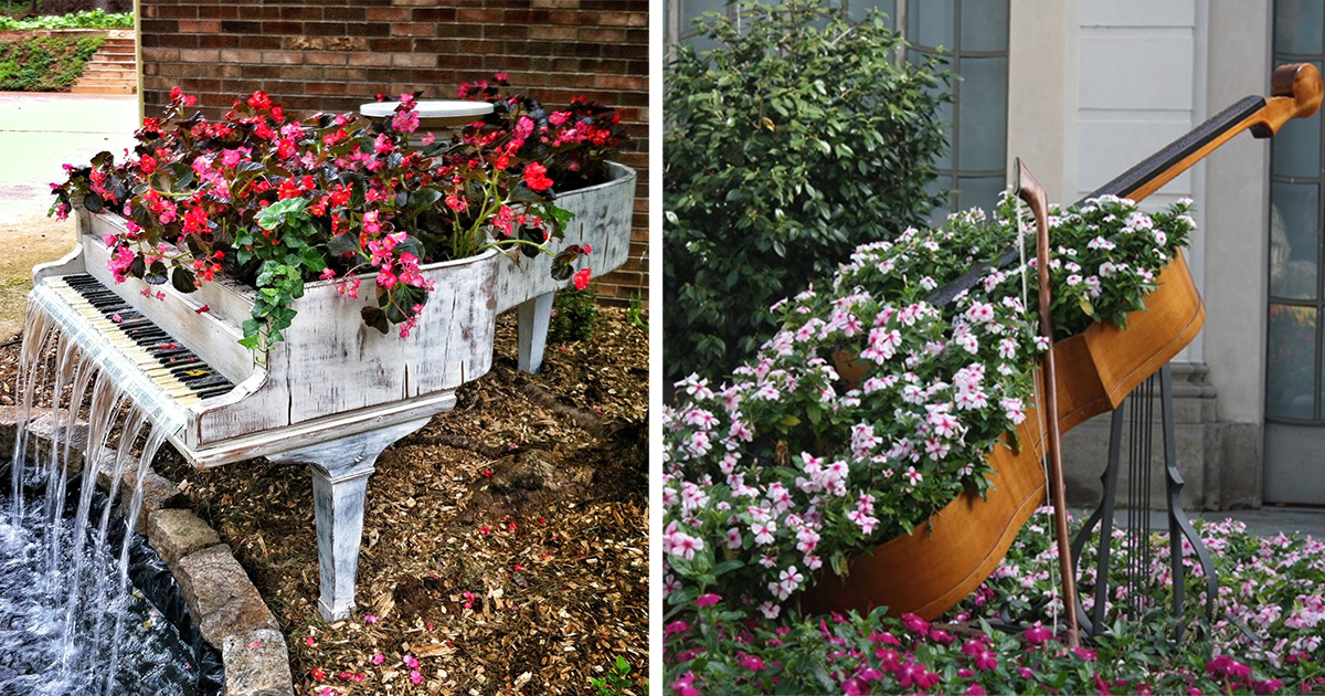Superbe 15+ Ways To Recycle Your Old Furniture Into A Fairytale Garden | Bored Panda