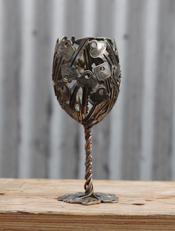 recycled-metal-sculptures-key-coin-michael-moerkey-6