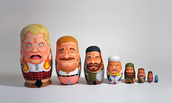 Robin Williams Nesting Dolls Inspired By His Most Memorable Characters