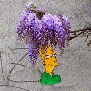 Sideshow Bob Street Art By OakOak Appears In Saint-Etienne, France