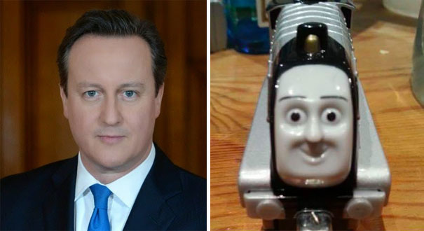 David Cameron Looks Like A Train