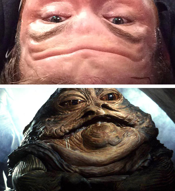 Forehead Wrinkle And Jabba The Hutt