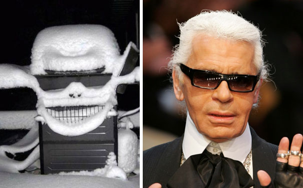 This Snowy Grill Looks Like Karl Lagerfeld
